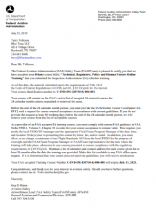 View FAA Approval Letter